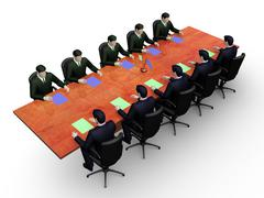 Business table Stock Illustration