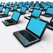 Group of laptop - stock illustration