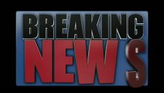 Breaking News Animated Title Graphic Transition 2528 Stock Footage