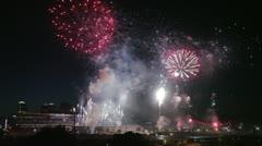 Calgary Stampede Fireworks Stock Footage