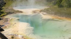 Geyser Pool in Yellowstone - stock footage