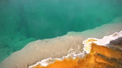 Hot Geyser Pool with Mineral Deposits - stock footage