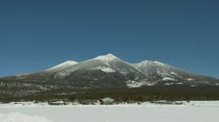 Snow Capped Mountain Peak Flagstaff - stock footage