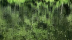 Reflection in a lake Stock Footage