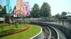 Vancouver bc canada -  july 9 2012 playland wooden roller coaster Stock Footage