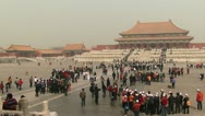 Stock Video Footage of Forbidden city Beijing China
