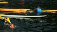 Stock Video Footage of north vancouver bc canada - july 17 2012 kayak and paddle board races