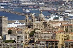 Marseille France Cathedral de la Major port 8675.jpg Stock Photos