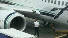 Pre flight inspection Stock Footage