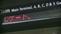 Airport train, foreign languages rotating Stock Footage