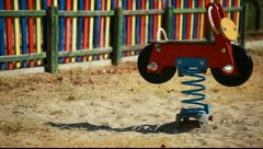 Empty playground - stock footage