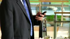 Man on Cellphone Stock Footage
