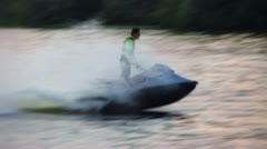 Jet Ski, water bike Stock Footage