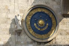 Messina Duomo astronomical clock 9147.jpg Stock Photos
