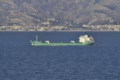 Rahtilaiva Messini Sisilia Italia Välimeri Kuvituskuvat