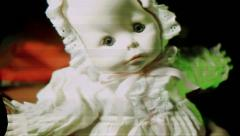 Horror creepy doll scary Stock Footage