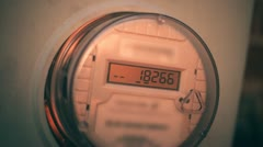 Kilowatt electric meter Stock Footage