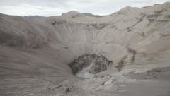 Large crater Bromo in Indonesia Stock Footage