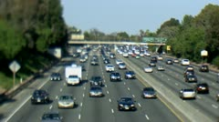 Busy Highway Freeway in Los Angeles - stock footage