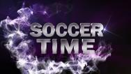 Soccer time text blue Stock Footage