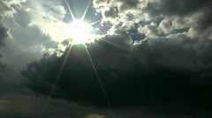 Storm Clouds Swallow Sun Time Lapse Stock Footage