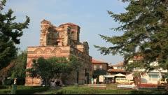 The Church оf Christ Pantocrator, Nessebar, Bulgaria Stock Footage