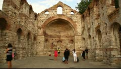 Old Metropolitan Church of St. Sophia, Nessebar, Bulgaria Stock Footage