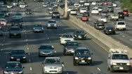 Busy Highway in Los Angeles Stock Footage
