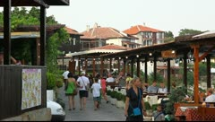 Typical street in the City of Nessebar, Bulgaria Stock Footage