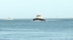 Tugboats Enter Main Channel Stock Footage