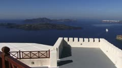 View from a restaurant, Santorini Greek Islands Stock Footage