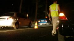 Night Auto Accident - stock footage