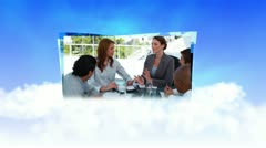 Businesswomen managing their team Stock Footage