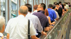 Crowds in Asian country. - stock footage