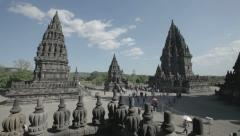 Tourists at temple on island of Java 2 Stock Footage