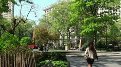 Madison Square Park at summer. Stock Footage