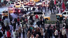 Crowd at Times Square at night. Stock Footage