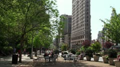 Citizens near the Madison Square Park at Broadway. Stock Footage