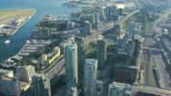 Aerial View Of Toronto Westbound Highway Traffic Time Lapse Stock Footage