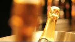 Champagner on ice Stock Footage