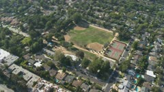 Aerial View of Los Angeles Suburbs California Stock Footage