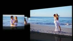 Honey moon at beach Stock Footage