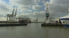 Travelshot Eemhaven, Port of Rotterdam Stock Footage