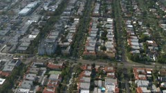 Aerial View of Los Angeles Suburbs California - stock footage