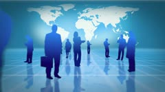 Videos of business people working together with an earth image courtesy of Stock Footage