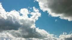 White Clouds on the Blue Sky Stock Footage