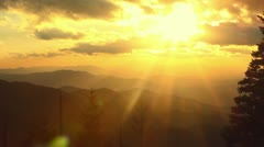 Mountain Sunset Stock Footage