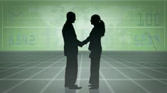 Business people shaking hands and working together Stock Footage