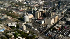 Aerial View of Downtown Hollywood,  Los Angeles California Stock Footage