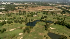 Aerial View of Los Angeles Golf Course Suburbs California Stock Footage